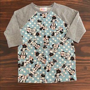 LuLaRoe Size2 Minnie Mouse Top